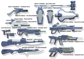 Frame Crash - Weapon Set 01 - 2014 by TurinuZ