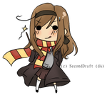 APH: FemSItaly as Hermione by SecondDraft