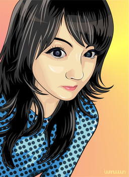 Venus angelic on vector, a Youtuber from london. by iwanuwun