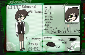 HopesPeakAcademy Application: Edmund Williams by GlassFeline