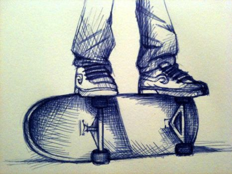 sk8tn-on-tha-edge by KidDinoMITE