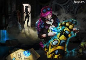 League of Legends - Vi and Caitlyn by FAYSON1337