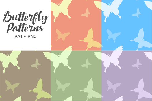 [Stock] Butterfly Repeating Pattern by dimawari
