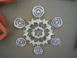 Batwoman and Captain America Snowflake by DominiqueSnazzy