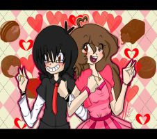 Novios de chocolate by yumi12ish