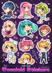 Cut-Out Vocaloid Stickers by oceantann