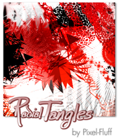 Radial Tangles - PS Brush Set by pixel-fluff