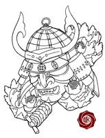 Samurai 2 sketch tattoo by Punk01