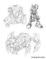 Robot designs by marcusmuller