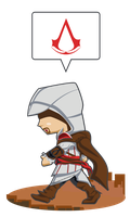 Ezio Auditore da Firenze's walk by UmbreoNoctie