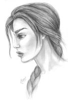 Lara Croft portrait by alineshenon