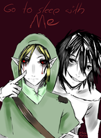 Jeff the Killer x Ben drowned by MikeruMorino