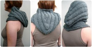 Gray Hood Cowl by PolClary