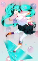 Miku Bubble Pop by Crazy-Baka