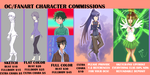 Commissions chart by Whitewolfgirl