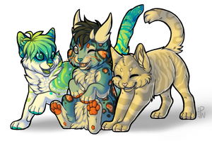 Kitten Krew by PuddingWaffles
