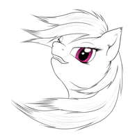 Sketch : Rainbow Dash by Mekamaned
