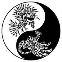 Yin and Yang Birds by quinnbruderer