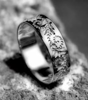silver ring for wedding by manuroartis