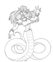 Naga or Lamia? by DaTroll