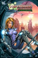 HOT WIRED #1 : The Art of Carl Riley - Cover Art by Carl-Riley-Art