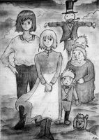 Howl's moving castle characters by Kelsa20