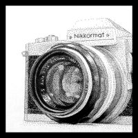 Nikkormat stipple by fahrmboy