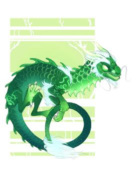The jade Serpent by azira-star-wind
