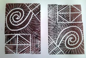 Abstract - Linocut by Dania987