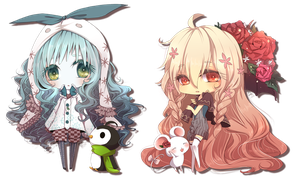 Chibi COM: Spring and Winter by hitogata