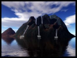 Waterfall Island stock by ED-resources