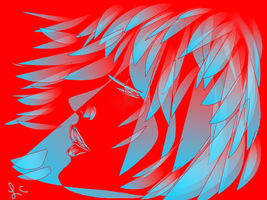 Red And Blue by thepurpleorchid1
