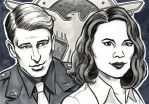 Agent Carter and Captain America Sketch Cards by timshinn73