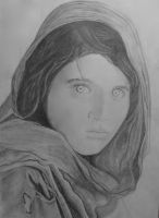 The Afghan Girl by pixieshoes
