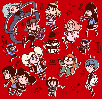 P5 Cuties by tanukicrafter