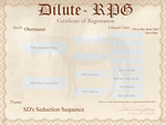 Seduction Sequence D-RPG Certificate by SWC-arpg