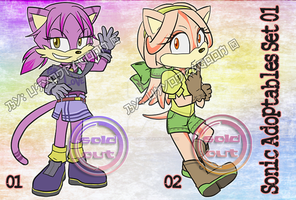 Sonic Style Auction Adoptables [CLOSED!] Set 01 by UkyoDragoon
