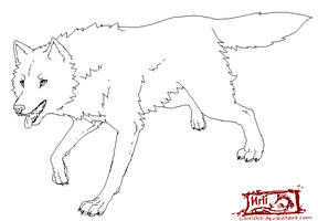 ::. Wolf Lineart + Makeable by TeaDino
