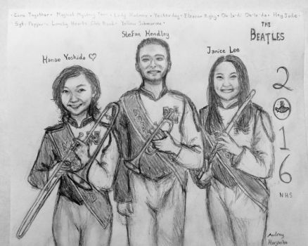 NHS Drum Majors 2016 by DragonFang17