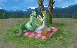 Commission - Picnic by Vaporeon249