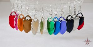 ALL the scale colors in earring form by CrimsonStarEmporium
