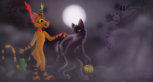 Furry Halloween 2013 by Arkare