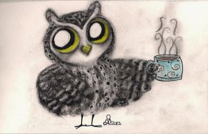 Owl Coffee Time! by InkyDreamz