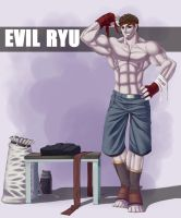 Evil Ryu at the Gym by mystery79