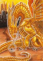 ACEO - End of a golden journey by MargotShareaza