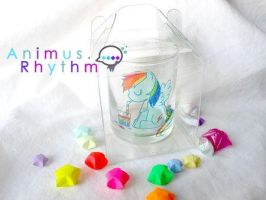 MLP FIM: Rainbow Dash Mini Cup by Animus-Rhythm