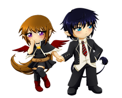 Commision .:Rin and Ren:. by RikaChan3