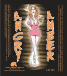 Angry Amber Beer Label by copperrein