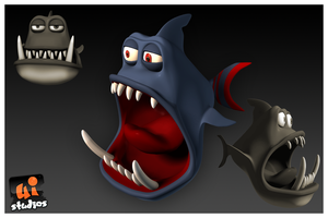 Angry Fish by uistudios