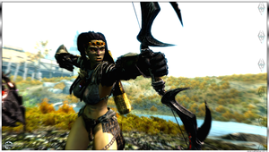 Orc Warrior - Bow Attack 02 - Skyrim by Jace-Lethecus